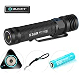 Bundle : olight s30r iii baton poweful 18650 3500mah rechargeable flashlight searchlight cree led 1050 lumens edc pocket light usb cable and charging dock (charger) with olight patch