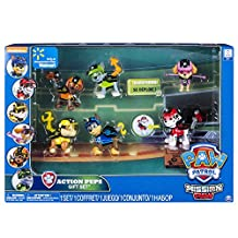 Paw Patrol Mission Paw Action Pups Gift Set with Chase, Marshall, Rubble, Skye, Zuma, and Rocky