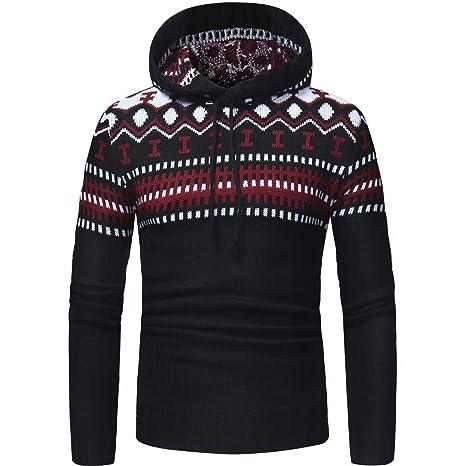 Chaqueta con Capucha de los Hombres, ♚ Absolute Otoño Invierno Pullover Cardigan Coat con Capucha suéter Chaqueta Outwear: Amazon.es: Ropa y accesorios
