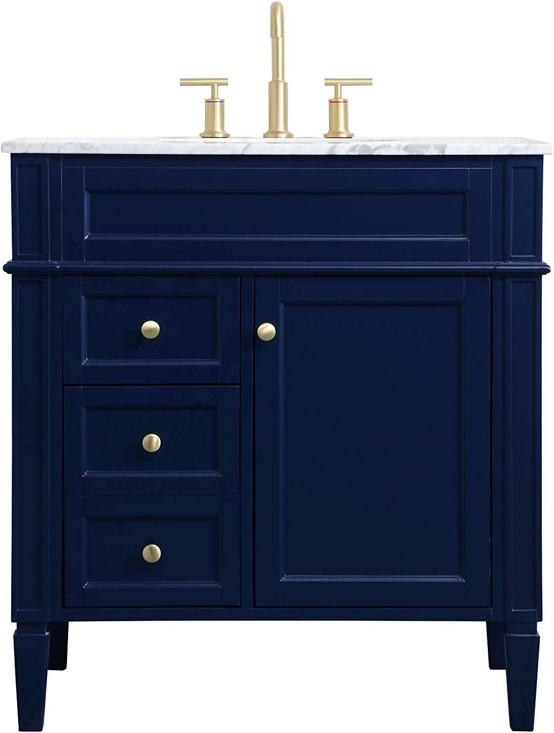 Amazon Com Elegant Decor 32 Inch Single Bathroom Vanity In Blue Furniture Decor