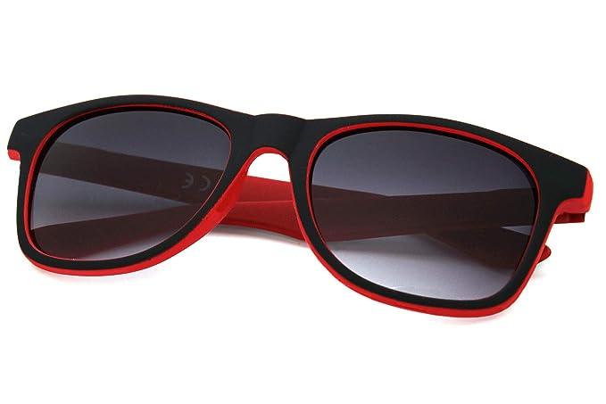 Morefaz - Gafas de Sol - para Mujer Negro Rojo Regular ...