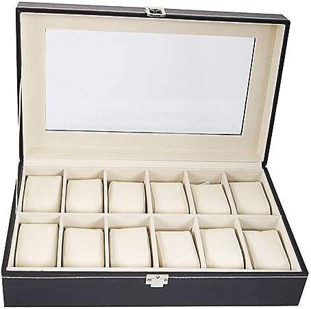 GOVD Cajas Relojes PU Cuero Estuche de Relojes para Relojes, joyería para Relojes 12: Amazon.es: Hogar