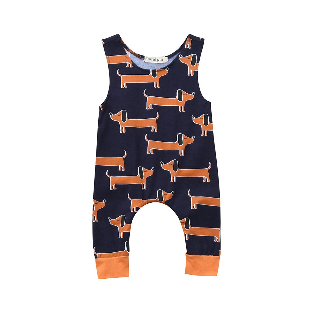 PLOT Baby Boys Girls Dogs Romper Jumpsuit Clothes Bodysuit Playsuit Pajamas Outfit 0-2T