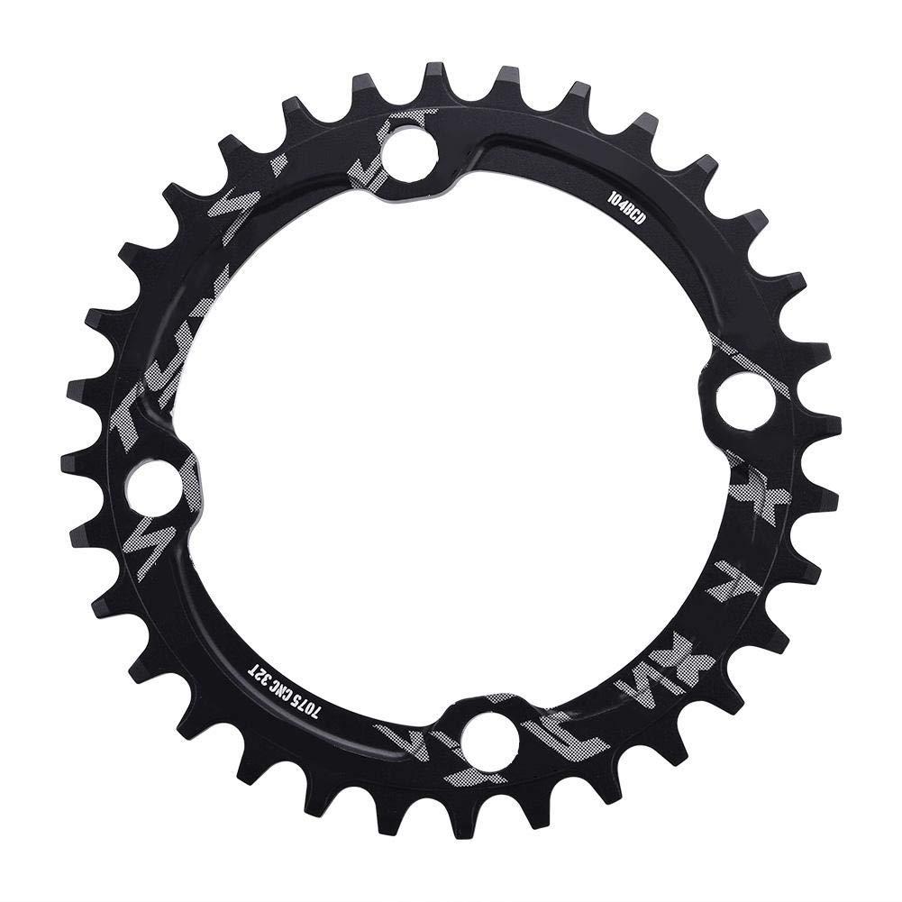 Alomejor Bike Chain Ring 32/34/36 / 38T BCD 104 Piezas de reparación de Anillo de Cadena de Acero de Bicicleta de montaña Solo para Piezas de Ciclismo al Aire Libre