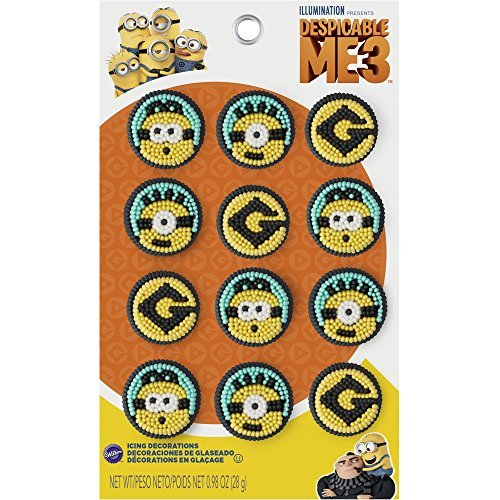 Wilton 710-7112 Despicable Me 3 Minions Icing Decorations, Assorted -