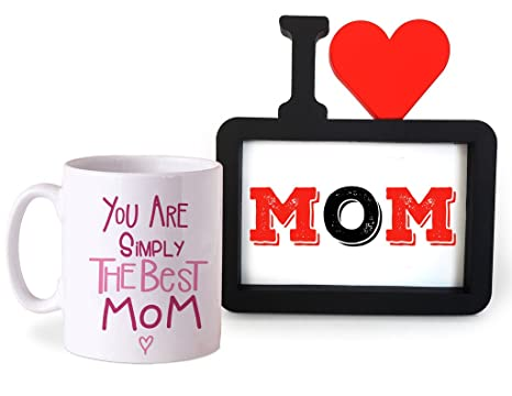 a7a260a400e Buy TIED RIBBONS Gift for mom from Daughter Coffee Mug(325ml) with Photo  Frame Online at Low Prices in India - Amazon.in