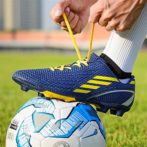DoGeek Fußballschuhe Kinder Microfaser Cleats Beruf Fußballschuhe für Herren Blau