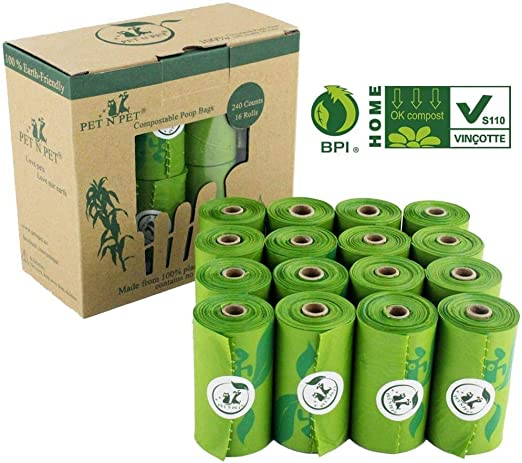 Bolsas de basura Biodegradable Impulso del perro bolsas de almidón ...