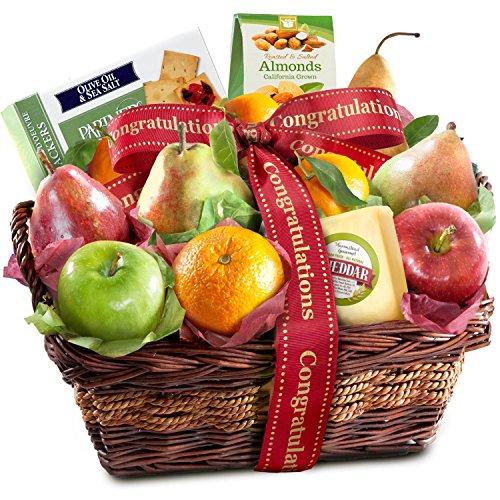 Congratulations Classic Gourmet Fruit Basket Gift