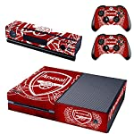 REYTID-Arsenal-Crest-Compatible-with-Xbox-One-Console-Skin-Sticker-2-x-Controller-Decals-Kinect-Wrap-Full-Set