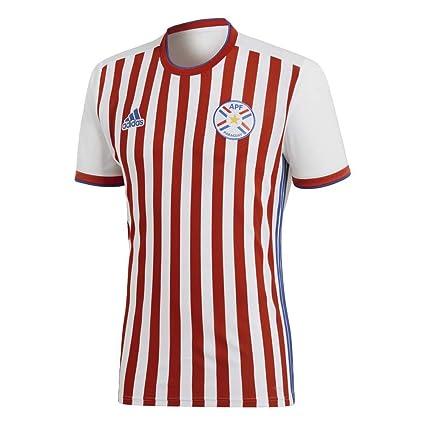 Adidas Asociación Paraguaya Camiseta de Equipación, Hombre, Blanco (apfroj/Azul),