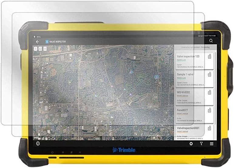 Trimble T10 Screen Protector, BoxWave® [ClearTouch Anti-Glare (2-Pack)] Anti-Fingerprint Matte Film Skin for Trimble T10