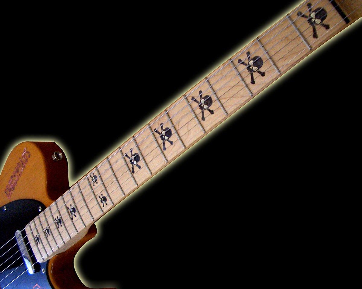 /T/ête de mort/ /BP Marqueurs de palissandre incrustation Autocollant Stickers pour guitare et basse/