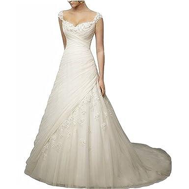 WANNISHA Women\'s Noble A-Line Sweetheart Long Bridal Gowns Bust ...