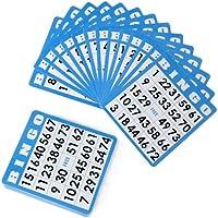 Royal Bingo Supplies 50 Tarjetas de Bingo Azul con números únicos de