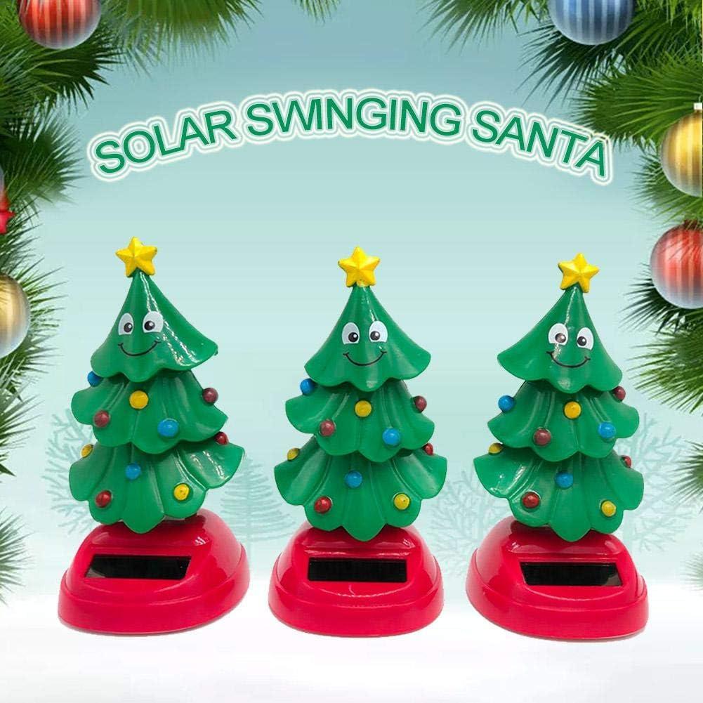 Weihnachtsbaum FüRs Auto Wackelkopffiguren für auto Solar Wackel Weihnachten Figur