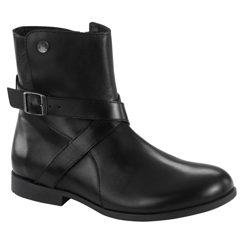 Birkenstock Collins Women's Boot B01MR4B23H 38 Regular EU|Black Leather