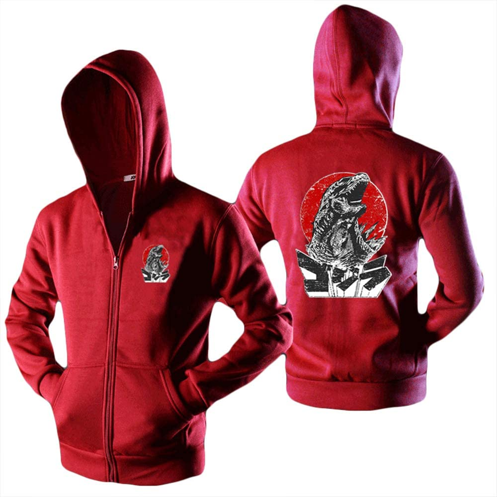 Godzilla Pullover Popular Printed Hooded Sweatshirt Cozy Sweater Classic Leisure Hooded Pullover Unisex