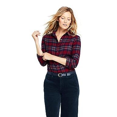 8bb3c07d0e085 Lands  End Women s Flannel Shirt at Amazon Women s Clothing store
