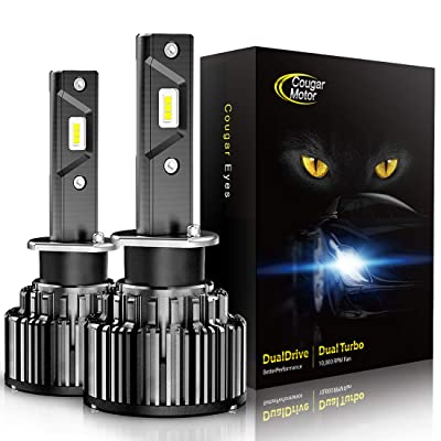 Cougar Motor LED Headlight Bulbs Conversion Kit - 880 881 (893, 899) -10000Lm 6000K Cool White CREE: Automotive