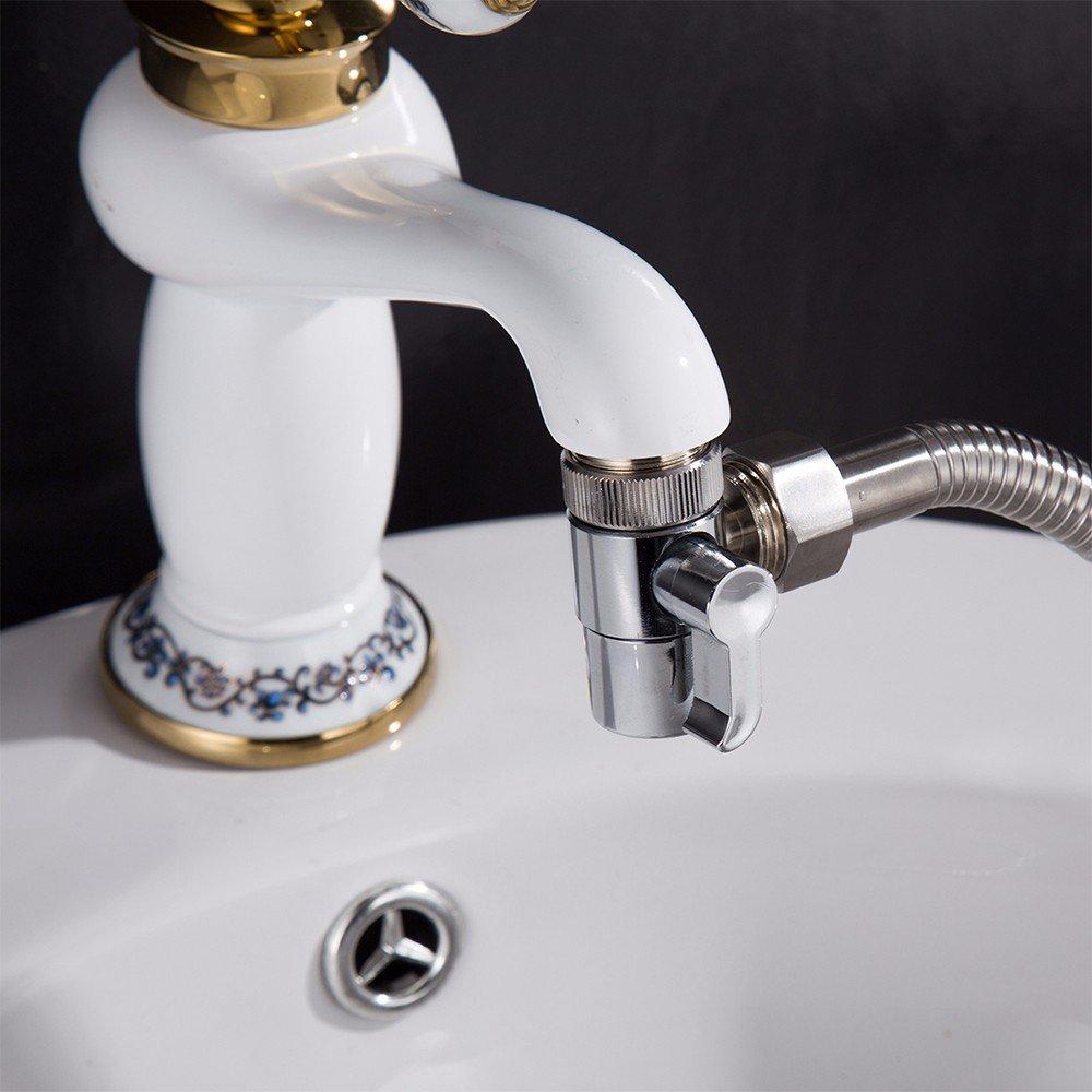 Brass 3-way Diverter Valve for Kitchen Bidet Bathroom Basin Faucet Replacement