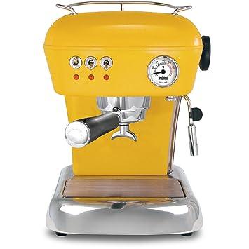 ascaso Dream - Portafiltros eléctrica, cafetera expreso para Barista Calidad Casa, con GRATIS Kult Aroma Espresso amarillo: Amazon.es: Hogar