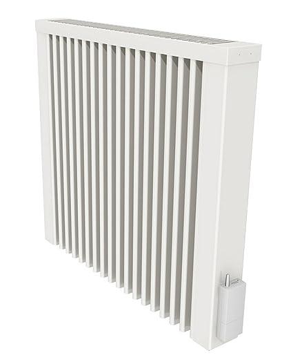 AeroFlow radiador de calefacción eléctrica COMPACT 1000 W con ladrillo refractario y el receptor radio X2D