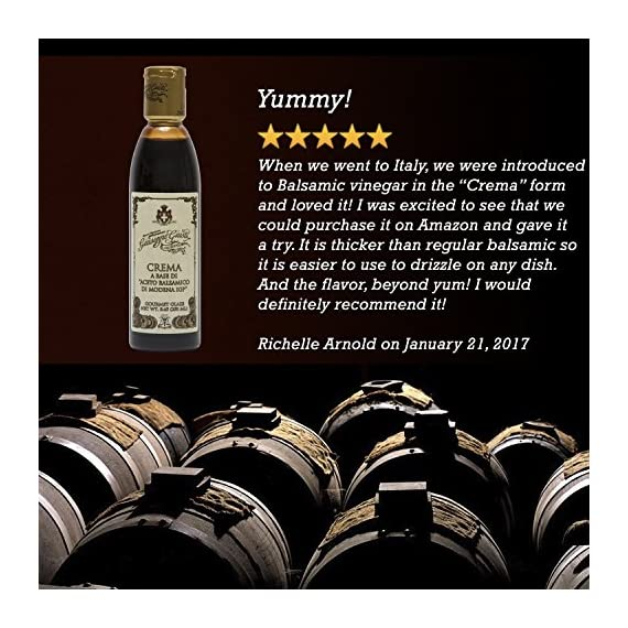 Giuseppe Giusti Italian Blasamic Vinegar Reduction of Modena IGP Reduction 8.45 fl oz (250ml) 8 🍇 ITALIAN MADE: Premium gourmet balsamic glaze that is imported and made in Italy. 🍇 INGREDIENTS: This all natural glaze is a reduction made from balsamic vinegar from Modena P.G.I., ensuring an authentic product 🍇 FLAVOR: Balsamic reductions create a rich, flavorful, syrupy-like glaze.