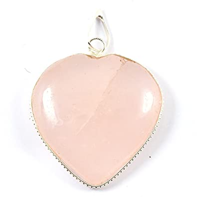 pendant large stm necklaces rsqjlry rose pink rings jewelry ex item natural quartz pendants
