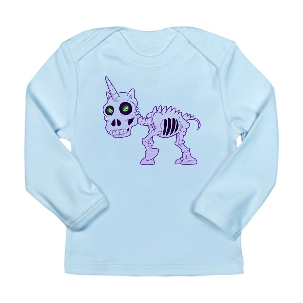 Truly Teague Long Sleeve Infant T-Shirt Pink Unicorn Skeleton Sky Blue 12 To 18 Months