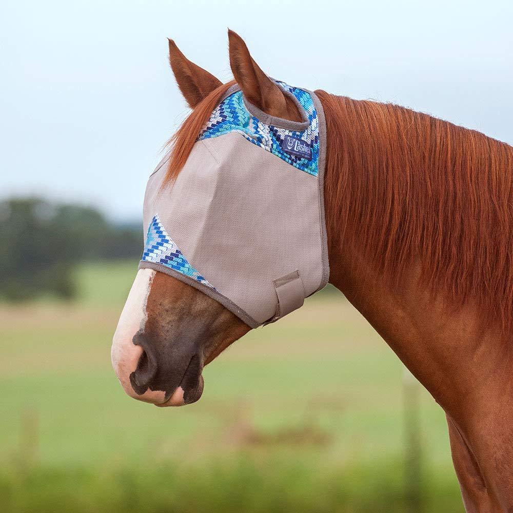 Cashel Company Patterned Crusader Fly Mask Multihenna Horse