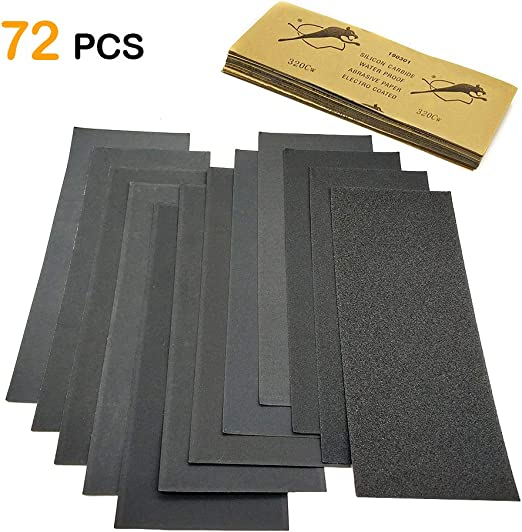 120 To 3000 Assorted Grit Sandpaper For Wood Furniture Finishing Metal Easy Iden