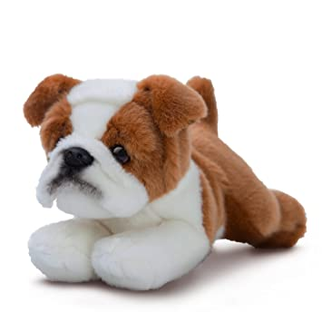 Aurora - Bulldog de Peluche, colección Luv to Cuddle, 28 cm, Color Beige