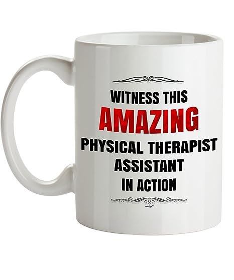 Amazon.com: Fisioterapeuta asistente taza de café – Witness ...