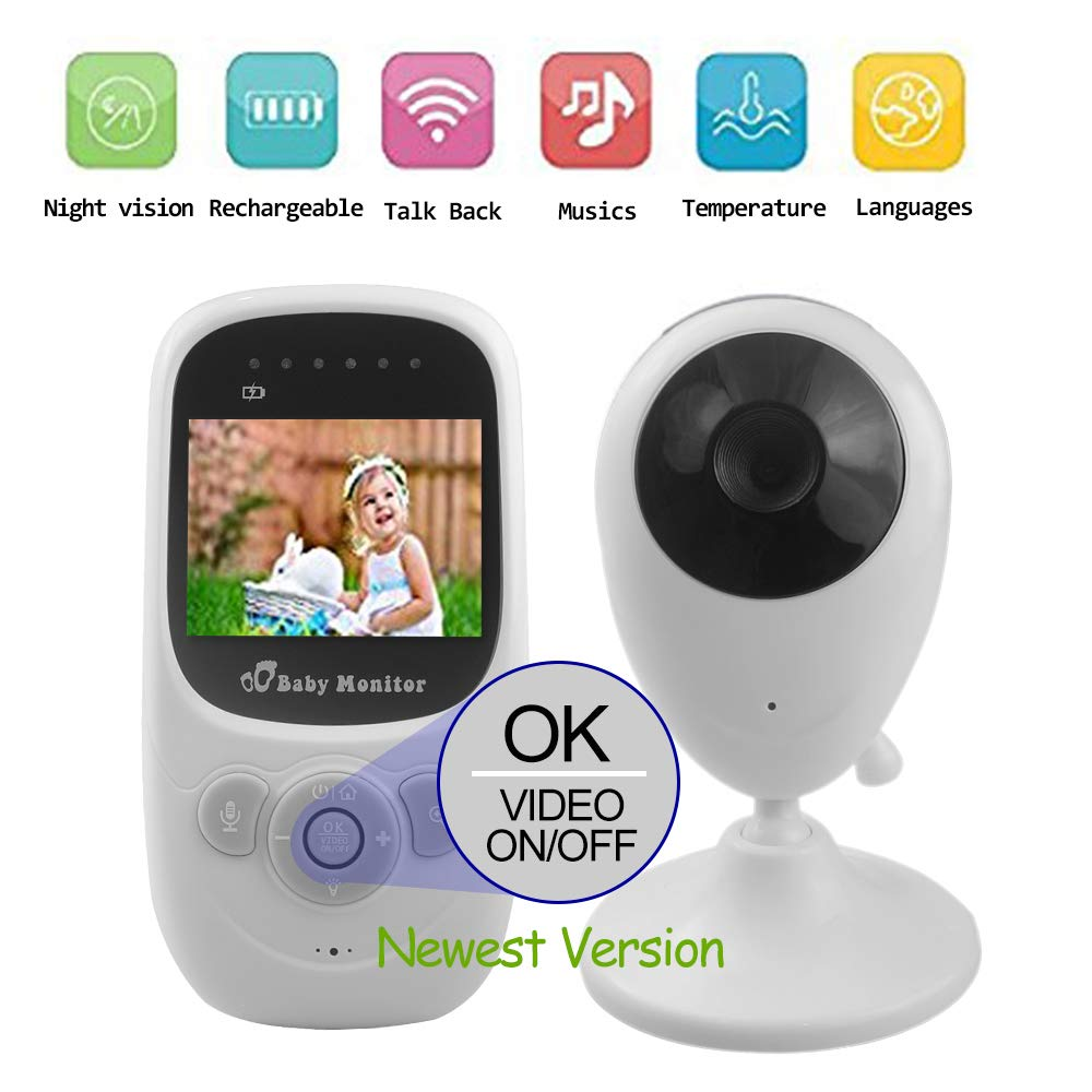 adventurers Video baby monitor(2018 New Type)-Wireless Baby Monitor Baby Surveillance Camera With2.4''LCD Screen Two-Way Talk Night Vision Temperature Monitoring and Long Range for your Infant by adventurers