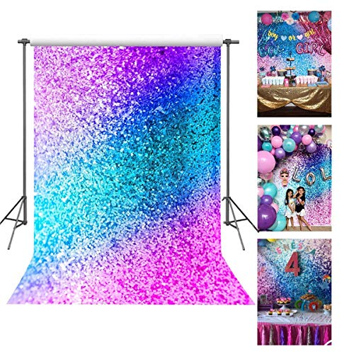 FUERMOR Background 5x7ft Colorful Photography Backdrop Makeup Photo Video Props (Not Glitter) -