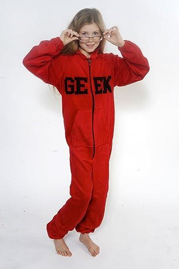 CrazyGadget® - Pijama para niño de cuerpo completo con capucha en forro suave multicolor rosso Large (9-10 Years): Amazon.es: Ropa y accesorios