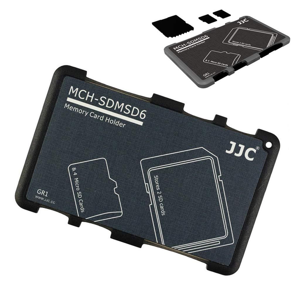 JJC - Funda para Tarjetas de Memoria (2 Tarjetas SD y 4 Tarjetas Micro SD)