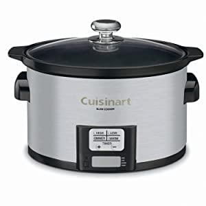 Cuisinart PSC-350FR Programmable Slow Cooker (Certified Refurbished), 3-1/2 quart, Silver