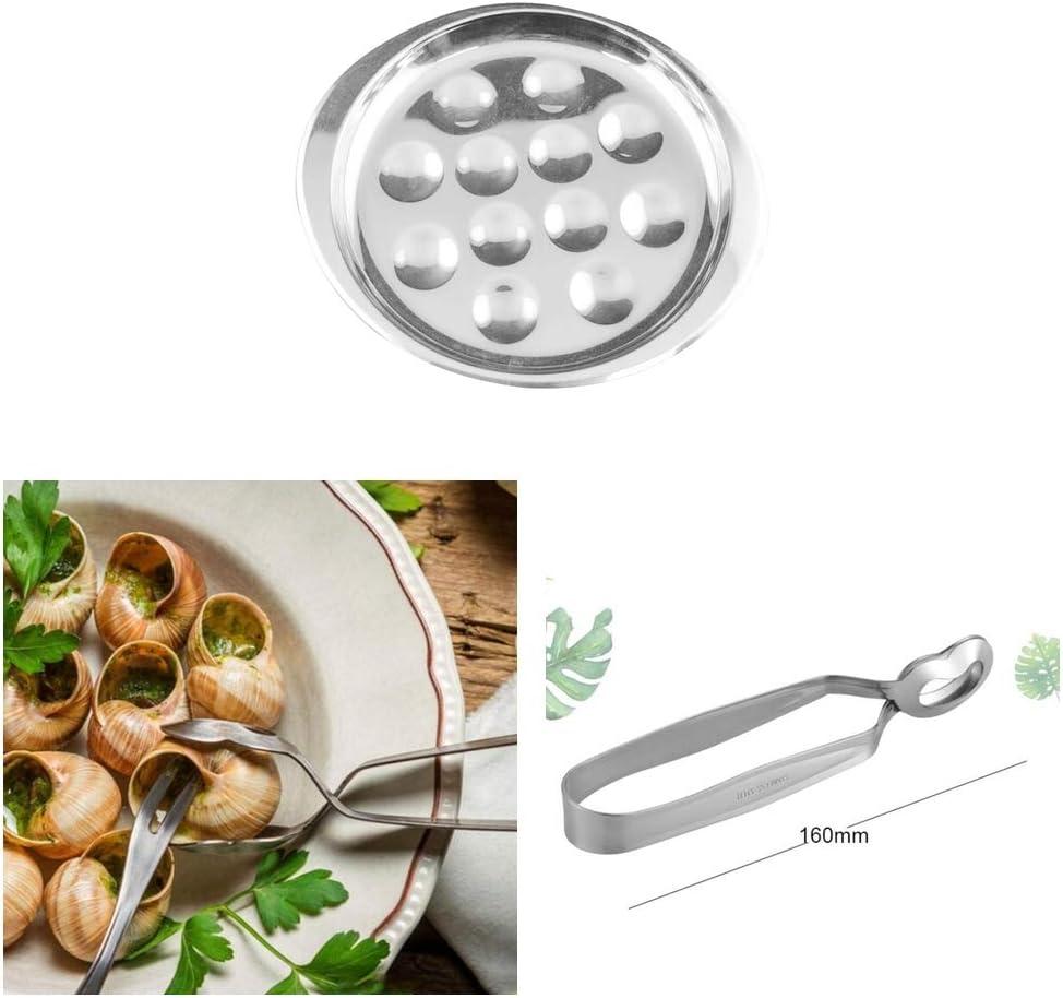 FLAMEER Outil De Cuisson en Acier Inoxydable pour Pinces Descargot Et Assiette Descargot