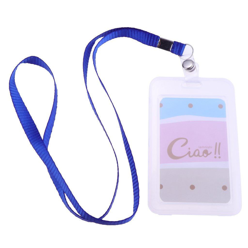 Lanyard ID Badge Holders Protector//Credit Card Bus Card Holders//Clear//Vertical Baoblaze Plastic