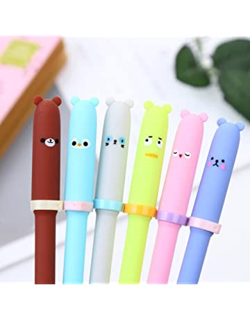 Yeefant Luxury Fountain, 6 PCS Creative Animal Expression Gel Kawaii Cute Stationery, Executive Pencil