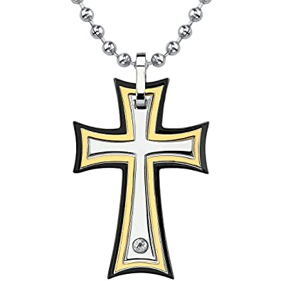 Medieval Power Surgical Stainless Steel Cross Pendant On A
