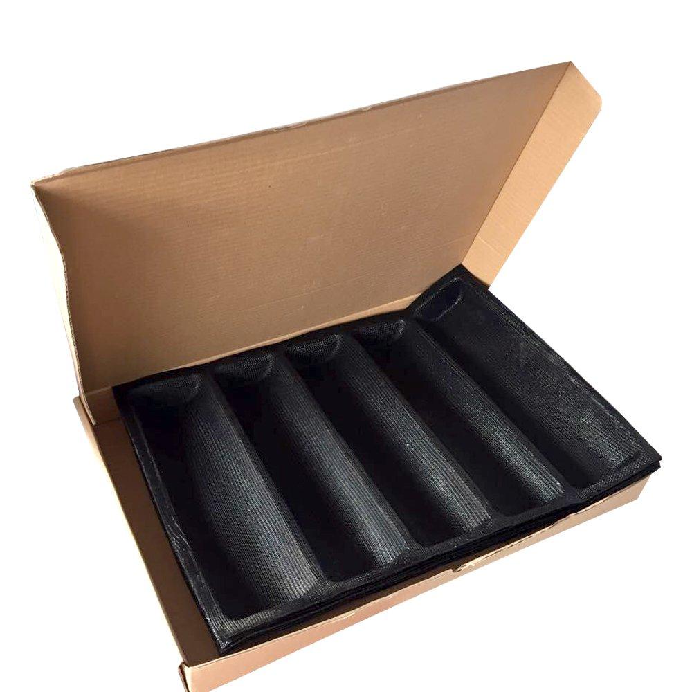 Non Stick Silicone Bread Mold 5 Loaf Subway Wide Bread Form 12 Pcs Bread Mould Simake S-23