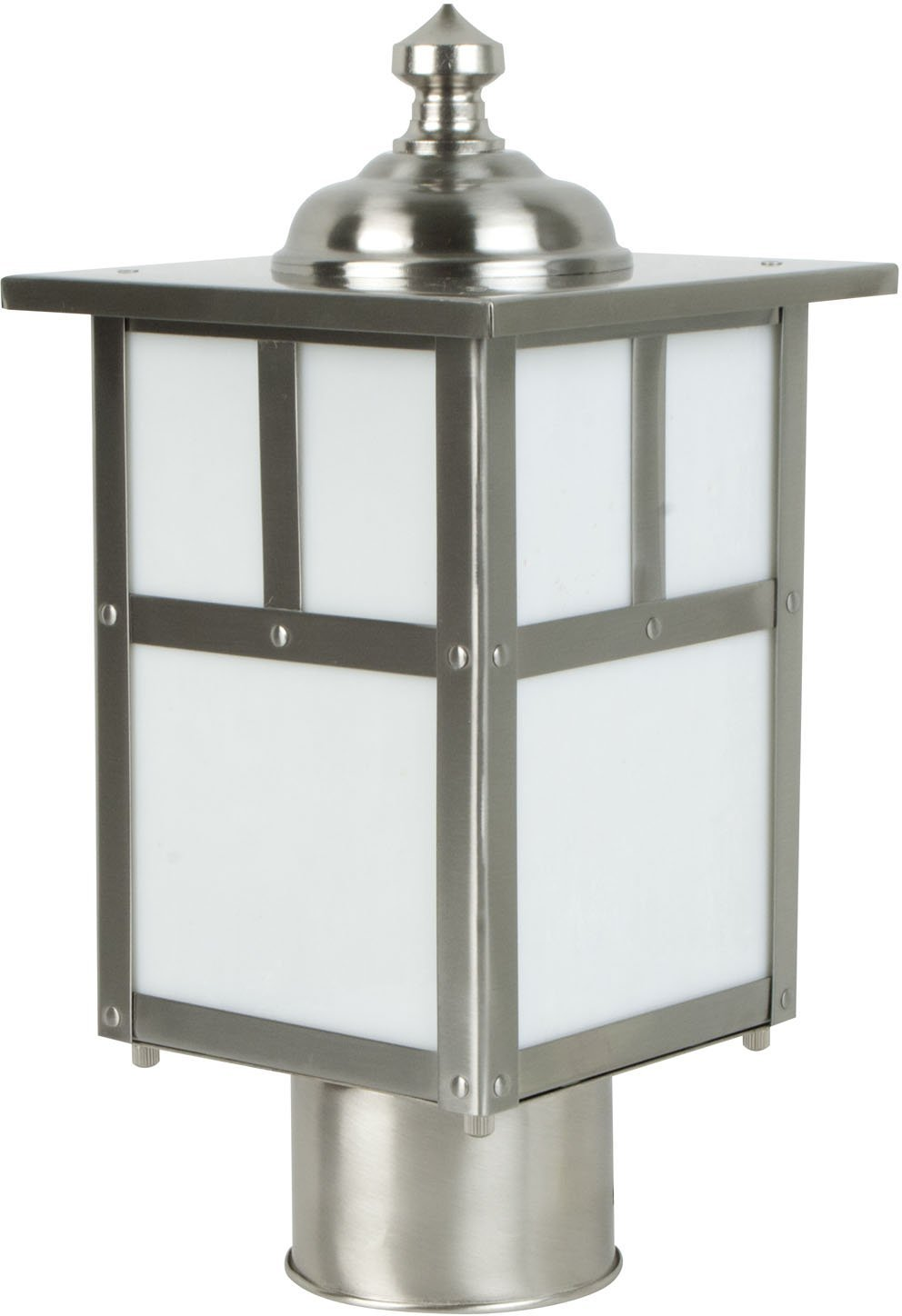 Craftmade Z1845-56 Post Mount Light with Frosted Glass Shades, Nickel Finish