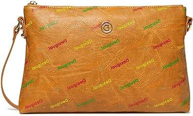 Desigual Bols_Intra Durban - Bolso bandolera para mujer, color beige