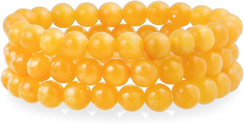 Bling Jewelry - Juego de 3 piedras preciosas redondas apilables unisex de 8 mm para mujeres y adolescentes y hombres, apilables