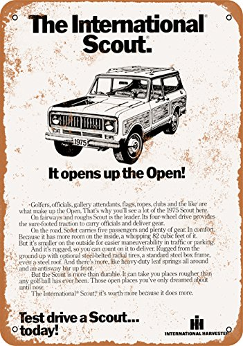 7 x 10 METAL SIGN - 1975 International Scout - Vintage Look Reproduction
