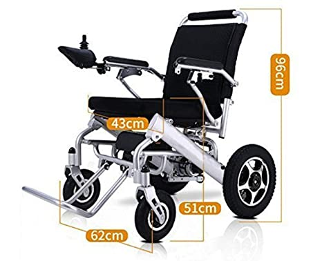 New Model 2019 Fold & Travel Lightweight Motorized Electric Power Wheelchair Scooter, Aviation Travel Safe Electric Wheelchair Heavy Duty Power ...