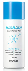 Enzyme Powder Wash, Scrub And Face Wash, Enzyme Cleaner Peeling, Peels For Face, Korean Exfoliator, Brightens Dermatologist Tested, (1.76 O.z) Radicalclear By DR. ORACLE